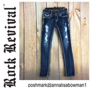 🐞Rock Revival Felicia Cuff Straight Leg jean